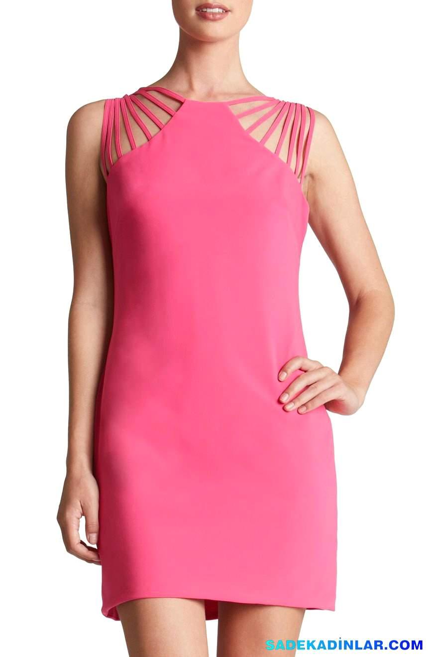 2020 Gece Elbiseleri Ve Abiye Modelleri - Strappy-Shoulder-Sheath-Dress