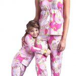 Anne Kız Pijama Kombinleri