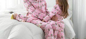 Birbirinden Şık ve Rahat Anne Kız Pijama Kombinleri