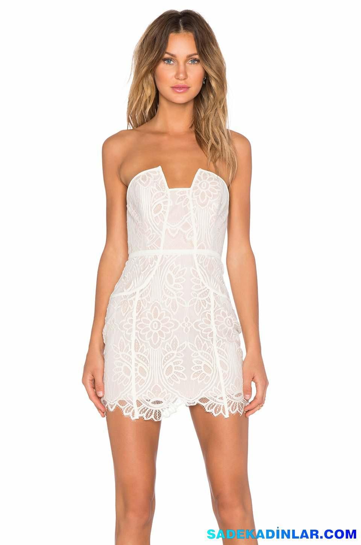 Beyaz Elbise Modelleri