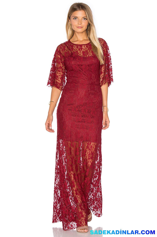 2019 Abiye Elbise Kombinleri; Dantel Detaylı Uzun