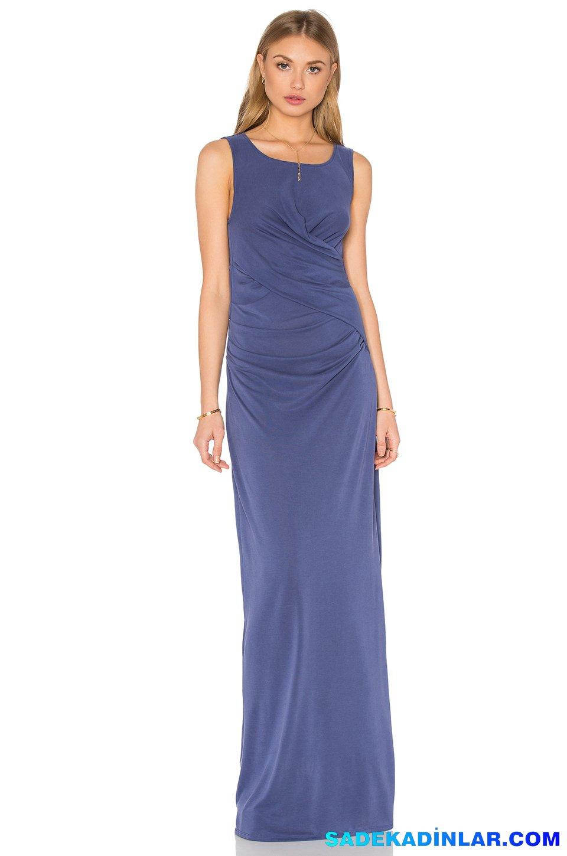 2019 Abiye Elbise Kombinleri; Mavi Uzun Abiye Elbise Modelleri