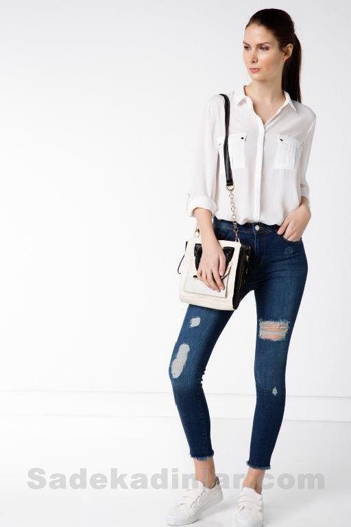 Defacto Kot Pantolon Modelleri ve 2018 & 2019 Kombinleri