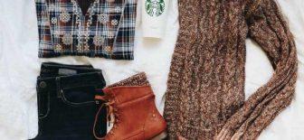 2018 Kış Kombinleri Son Moda Kışlık Bayan Giyim ve Kazak Modelleri