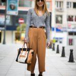 2017'nin En Şık Toprak Rengi Elbise Kıyafet Kombinleri_Kumaş Pantolon