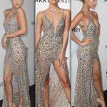 2018 Gece Elbiseleri Derin Yırtmaçlı Askılı Abiye Elbise Modelleri