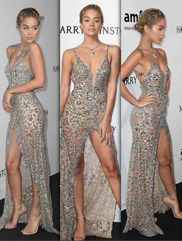 2021 Gece Elbiseleri Derin Yırtmaçlı Askılı Abiye Elbise Modelleri