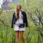2019 2020 Sonbahar Kış Kombinleri - Beyaz Mini Elbiseler - Ceket Whistles, ayakkabı Stradivarius, elbise Tommy Hilfiger, çanta chanel
