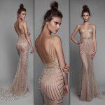 2018 Gece Elbiseleri Sırt Dekolteli Kuyruklu Abiye Elbise Modelleri