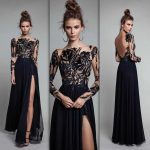 2018 Gece Elbiseleri Sırt Dekolteli Çok Şık Abiye Elbise Modelleri