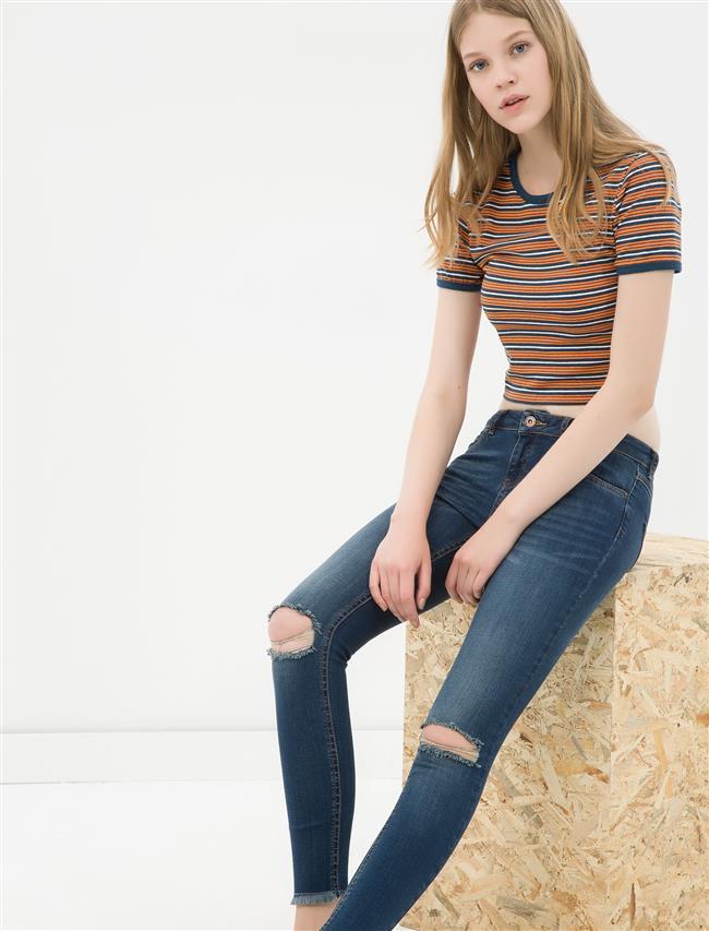 Koton Yırtık Kot Pantolon Modelleri ve Kot Kombinleri