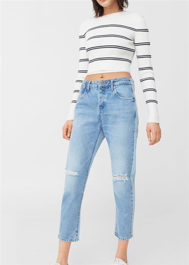 2019 Mango Yırtık Kot Pantolon Modelleri ve Kot Kombinleri