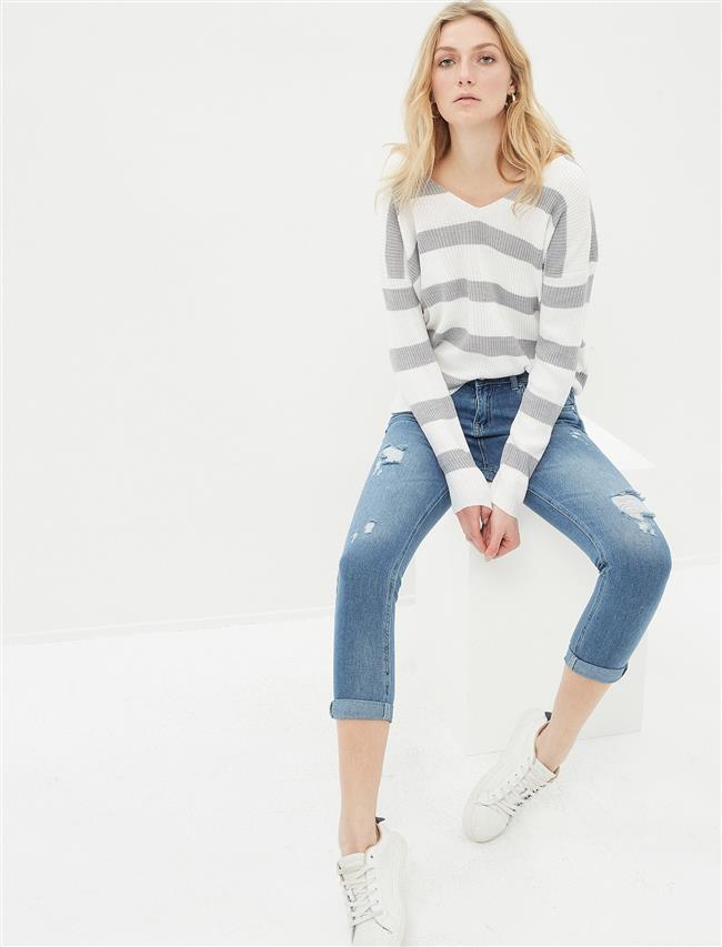 2019 Koton Yırtık Kot Pantolon Modelleri ve Kot Kombinleri
