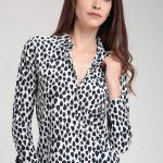 Damla Desenli Kısa Bayan Gömlek Modelleri Şık Kombinler İçin