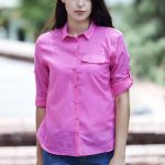 Fuşya Rengi Bayan Gömlek Modelleri