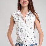 Kelebek Desenli Bayan Gömlek Modelleri Şık Kombinler İçin