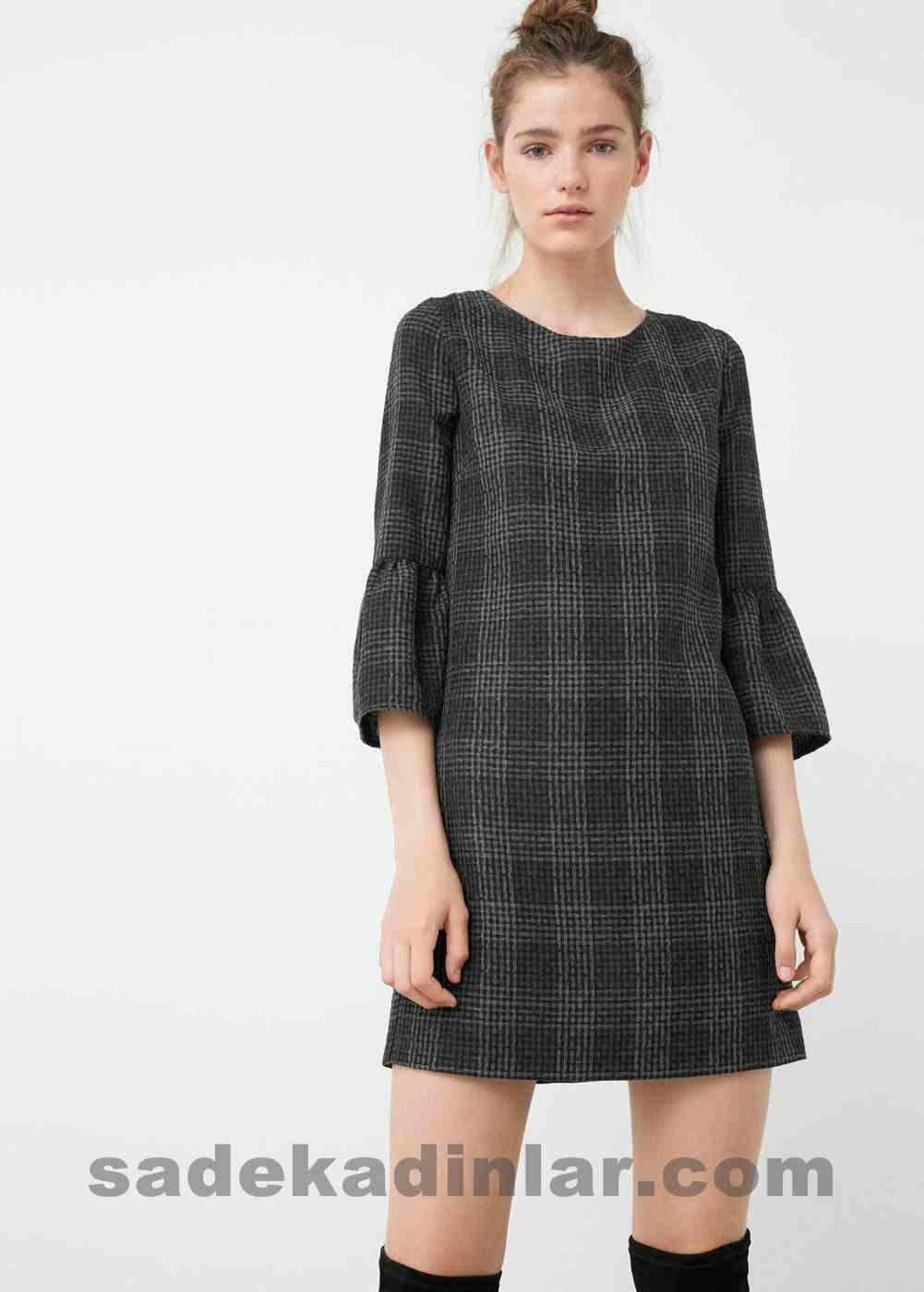 Abiye Elbise Modelleri Şık ve Güzel 2019 Gece Elbiseleri Kloş Kollu Günlük Kısa