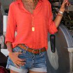 Mercan Rengi Bayan Gömlek Modelleri