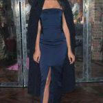 Yazlık Elbise Modelleri ve Şık Kıyafet Kombinleri Saten Straplez Gece Elbisesi