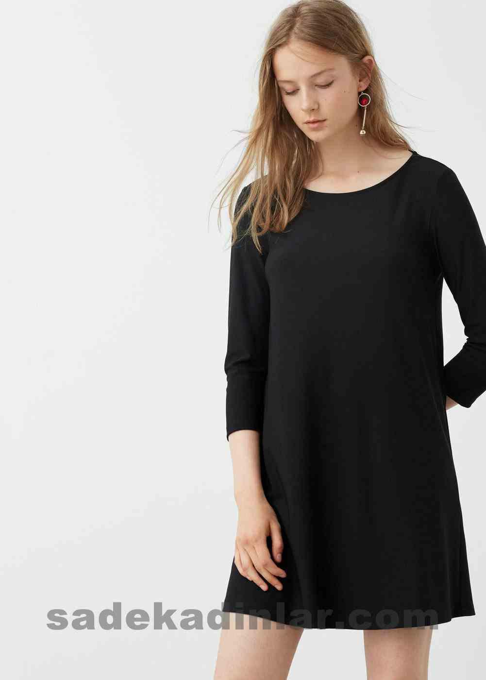 Abiye Elbise Modelleri Şık ve Güzel 2019 Gece Elbiseleri Sırt Dekolteli Siyah