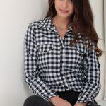 Siyah Kareli Bayan Gömlek