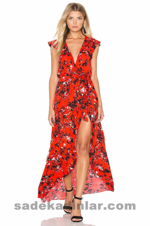 2019 Yazlık Kumaş Elbise Modelleri