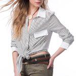 Çizgili Bayan Boyfriend Gömlek Bayan Gömlek Modelleri Şık Kombinler İçin