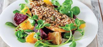 Tok Tutan Levrek Salatası Tarifi Portakallı ve Pancarlı