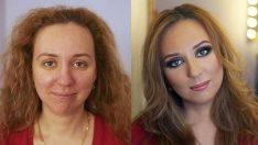 Rus Kadınlar Meğerse Profesyonel Makyaj İle Güzelmiş!