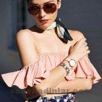 Yazlık Kıyafet Kombinleri Şık Omzu Açık Bluz