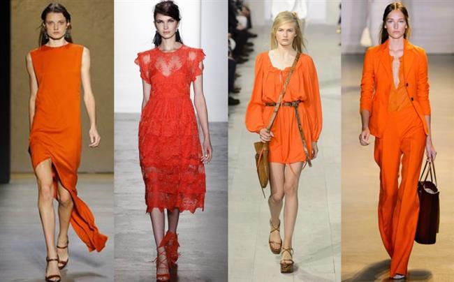 2018 Moda Renkleri ve Şık Elbise Modelleri İle Yaz Modası kırmızı