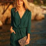 2018 Moda Renkleri ve Şık Elbise Modelleri İle Yaz Modası Yeşilin En Sert Tonu