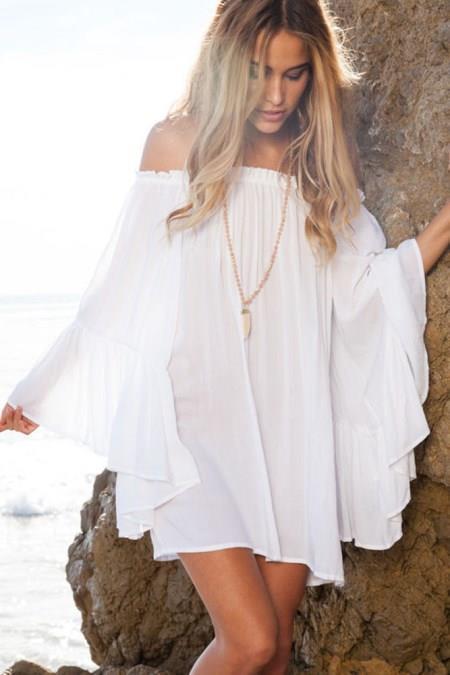 2018 Moda Renkleri ve Şık Elbise Modelleri İle Yaz Modası Ethercal Beyaz Rengi