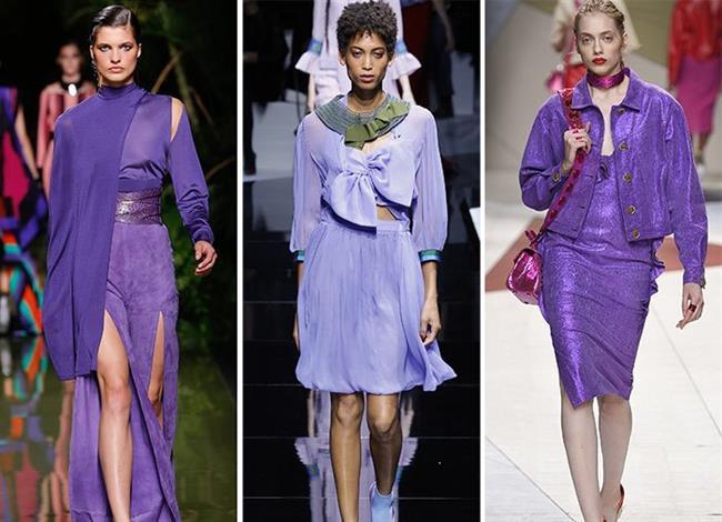 2018 Moda Renkleri ve Şık Elbise Modelleri İle Yaz Modası Elektrik Rengi Mor
