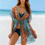 Belden Bağlamalı Transparan Plaj Elbisesi Pareo