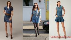 En Güzel 2019 Kısa Kot Elbise Modelleri
