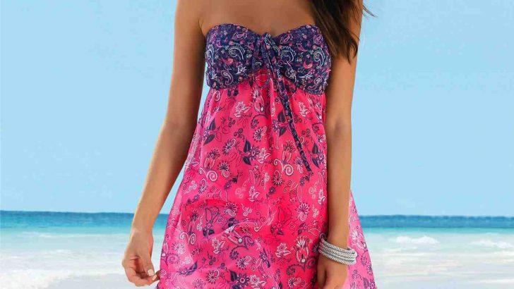 Sahillerin Şık Kıyafeti Plaj Elbiseleri