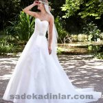 Sırt Dekolteli 2019 Prenses Gelinlik Modelleri