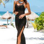 Siyah Transparan Plaj Elbisesi