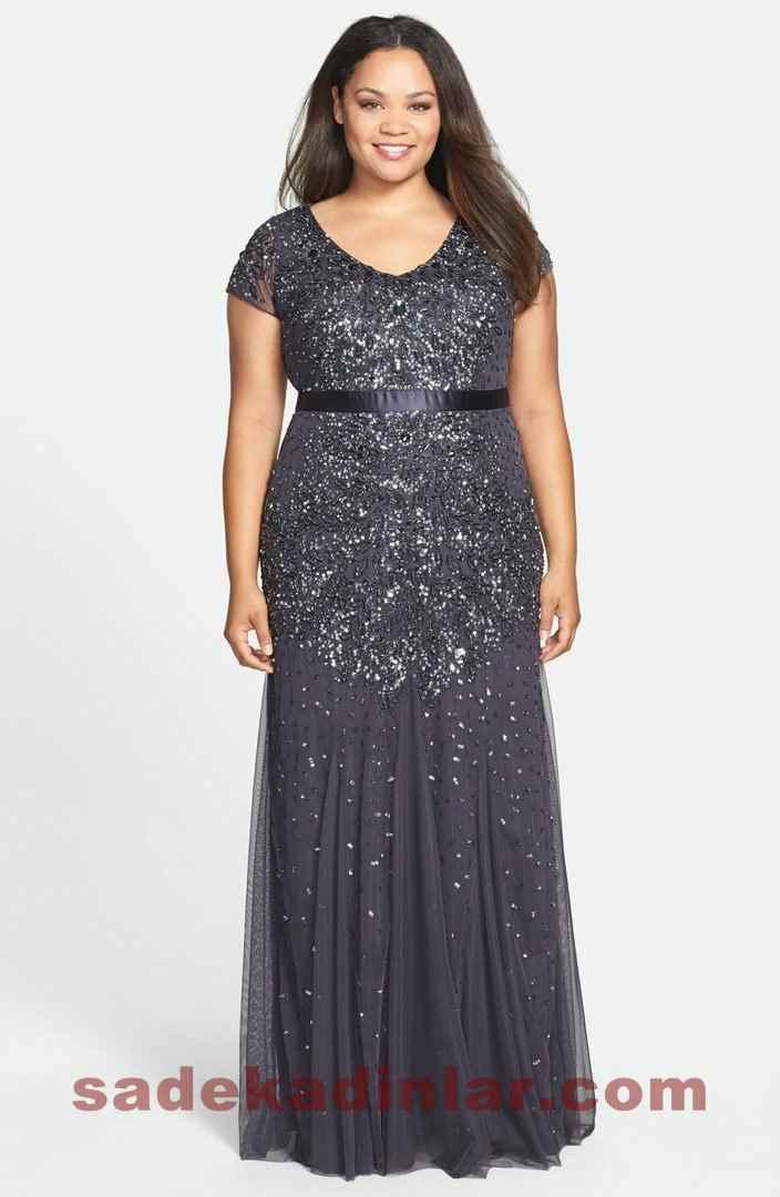 022f3063ffe33 Yeni Büyük Beden Abiye Elbise Modelleri 2019 & 2020 Şık Gece Kıyafetleri. «