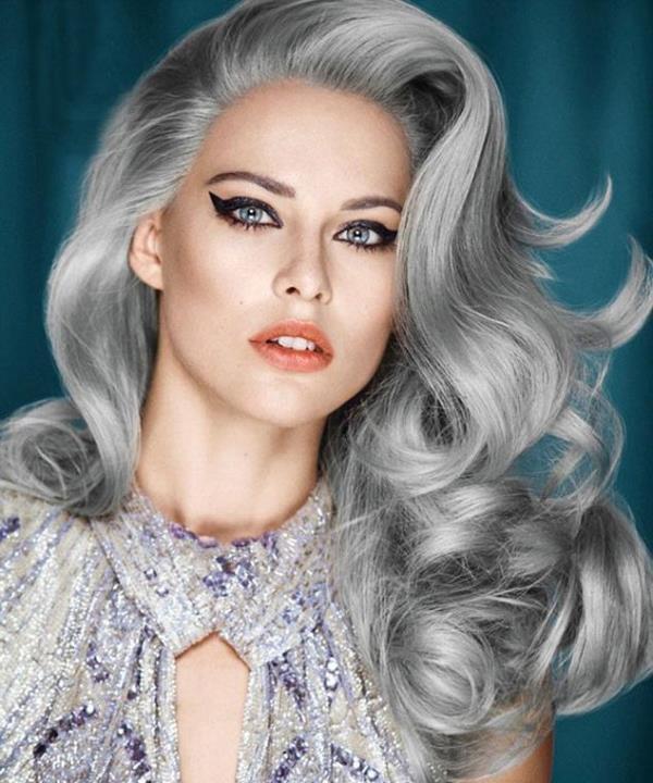 2017 Yazının En Moda Gri Saç Renkleri ve Saç Modelleri