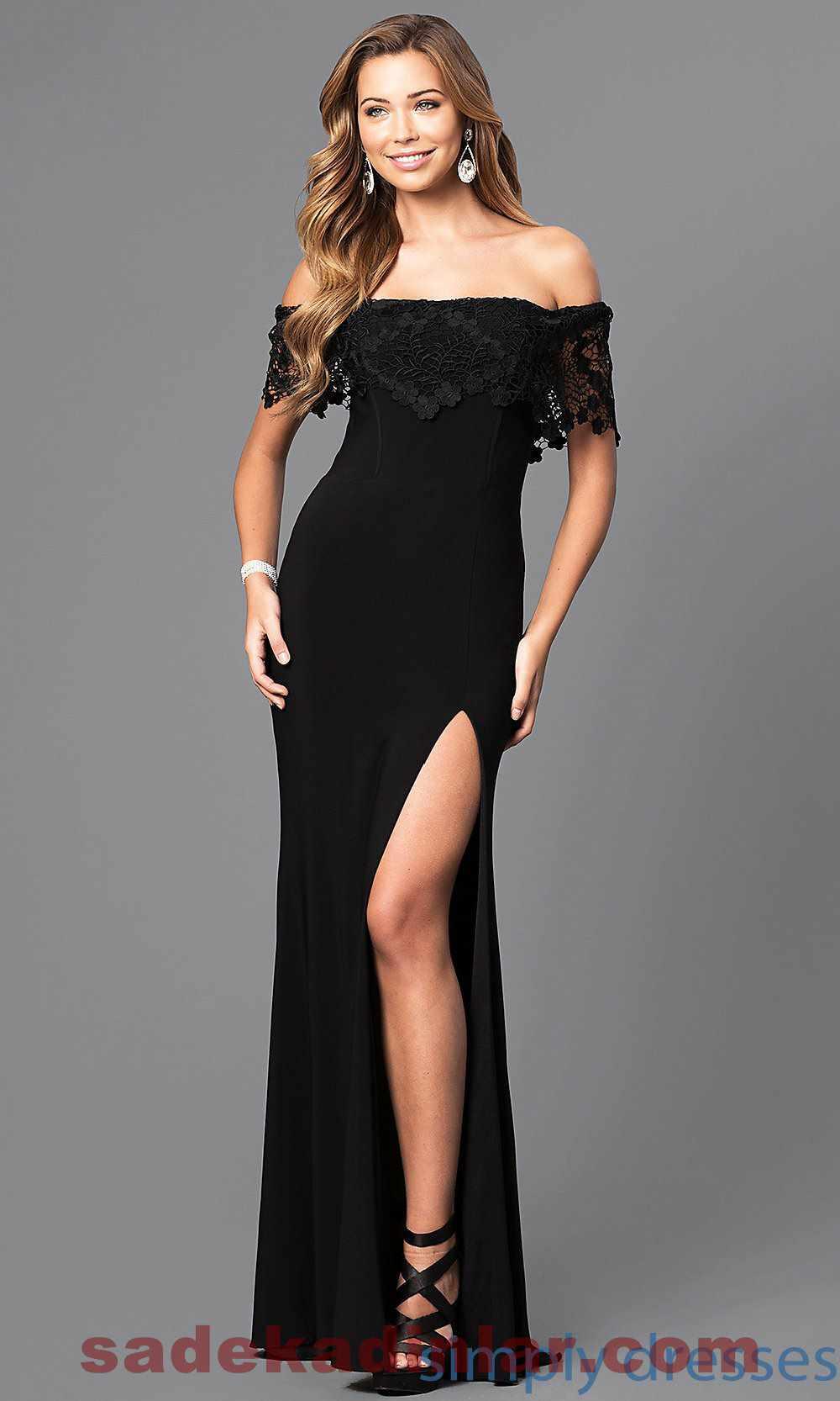 Açık Omuz Gece Elbiseleri 2018 & 2019 Abiye Modelleri
