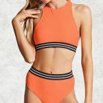 Yüksek Belli Bikini Modelleri 2018 Şık Plaj Giyim