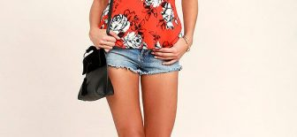 Bayan Kot Şort Sokak Modası, Yazlık Şık Kıyafet Kombinleri