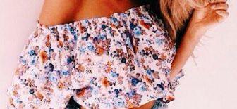 En Şık Yaz Modası Tek Omuz Bluz Kombinleri