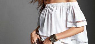 Omzu Açık Bluz Modelleri ve Şık Kıyafet Kombinleri