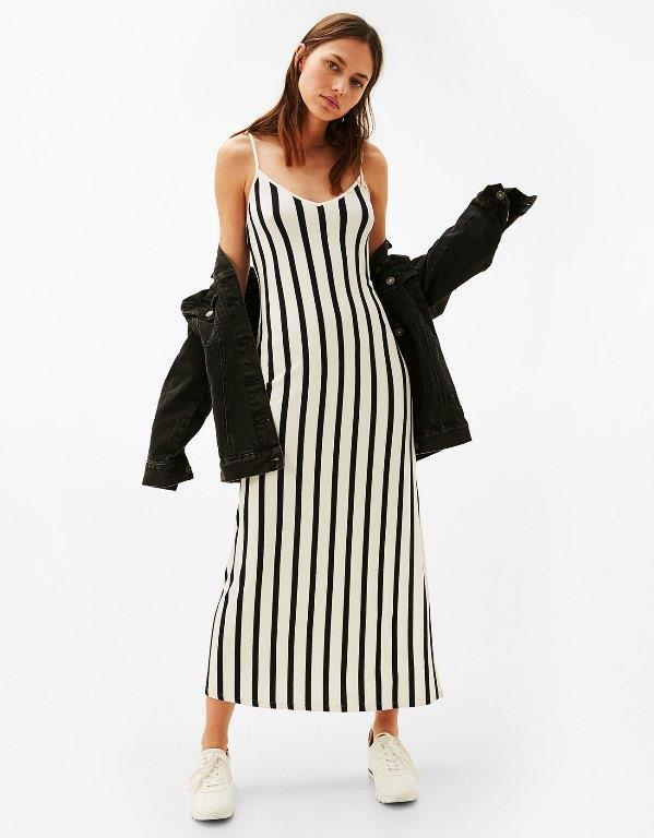 Ünlü Markaların Uzun Elbise Modelleri 2019 Bershka Şık ve Rahat