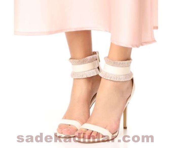 Abiye Ayakkabı Yüksek Topuklu Ayakkabı Abiye İçin Elastik Bilekli
