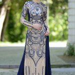 Son Moda Lacivert Tesettür Abiye Modelleri 2021 & 2022