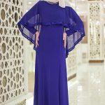 Son Moda Mavi Tesettür Abiye Modelleri 2021 & 2022